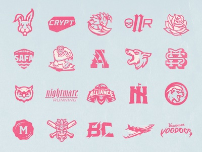 Randoms lettering wolf badger pokemon blue pink branding illustration skull mascot london design football esports sports logo