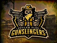 Outlaw Flag Gunslingers Logo