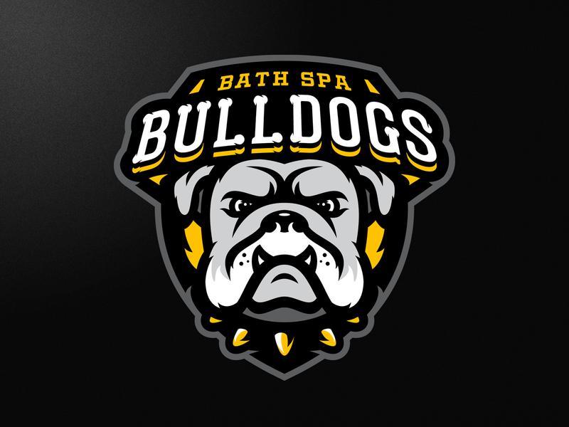Bath Spa Bulldogs Logo bulldog bulldogs mascot animal dog branding vector american illustrator london grunge design football esports sports logo
