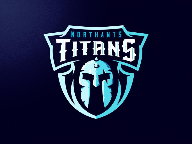 Northants Titans helmet roman titans mask m7d american skull london illustrator grunge design football esports sports logo