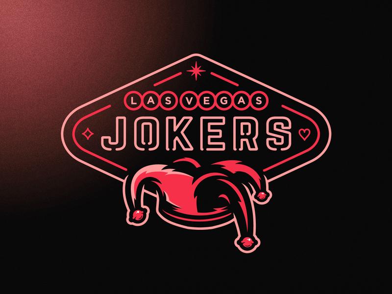 Las Vegas Jokers vector branding london american illustrator mascot esports mascot grunge design football esports sports neon sign joker laser neon vegas logo
