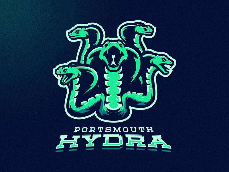 Portsmouth Hydra vector mascot m7d skull american london illustrator grunge design football esports sports logo