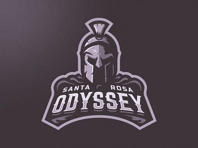 Santa Rosa Odyssey Logo vector skull mascot m7d branding illustration football esports sports logo