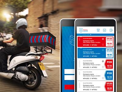 MEDICAL LOGISTIC app transport room33 courier medic flat design ui ux app