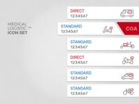 MEDICAL LOGISTIC app - vehicles icon set