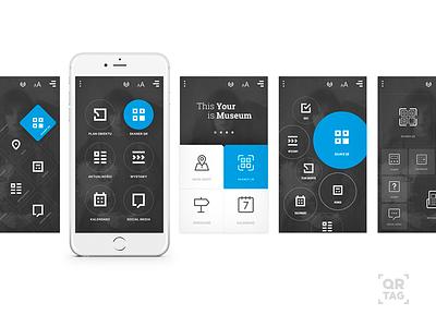 QR app UI graphic app ui