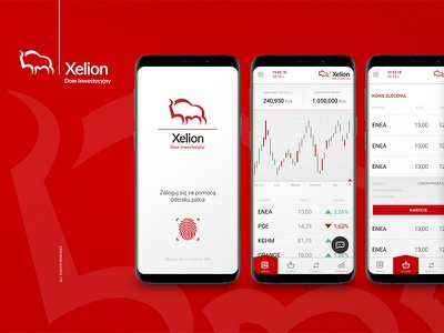 Xelion - investment house app concept room33 chart ui ux investment app