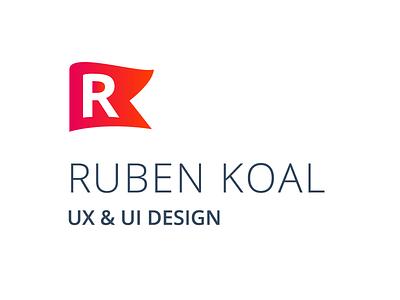 My new logo designer flag red ux ui freelance logo