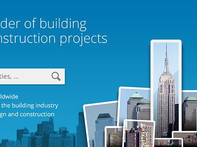 Redesign Emporis.com webdesign user interface icons construction buildings skyscraper button photography