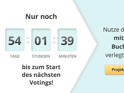Countdown countdown webdesign counter arrow teaser internal ad voting user interface design ui-design