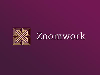 Zoomwork brand logo brand zoom corporate design cd