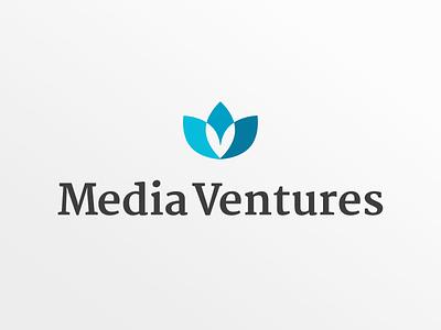 Mediaventures Brand logo branding brand venture capital ventures media corporate design cd