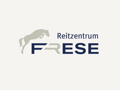 Logo for Frese Reitzentrum logo branding brand ride horseback riding reiten horse riding stable corporate design cd