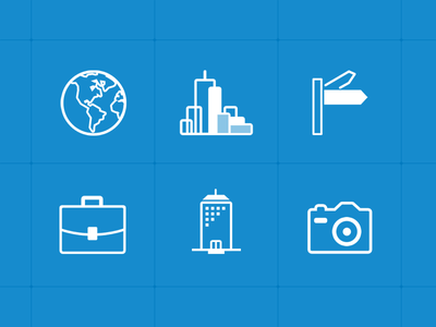 Icons icon icons simple outline world global skyline street business skyscraper building photo cam
