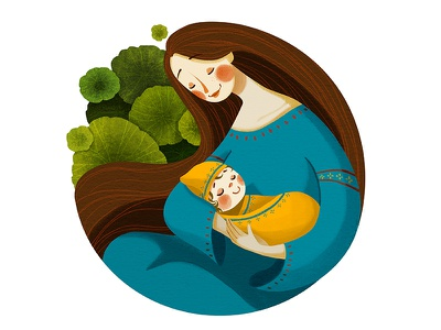 Mother's Day mother day mom cute baby illustrator illustration debut