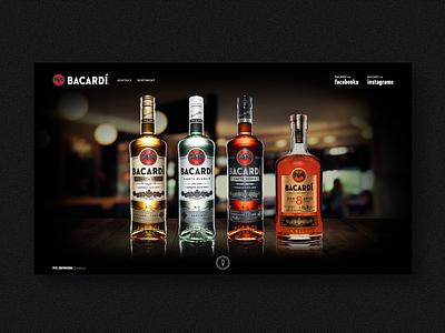 Bacardi brand in Slovakia facebook banners microsite