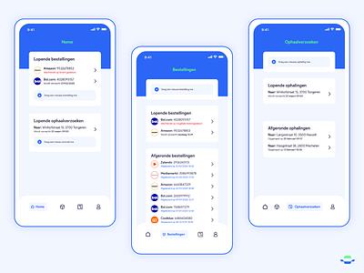 Automated Delivery App design uidesign app concept iphone x autonomous car autonomous mail packages ui ui design apparel tracking tracking app amazon ups delivery app