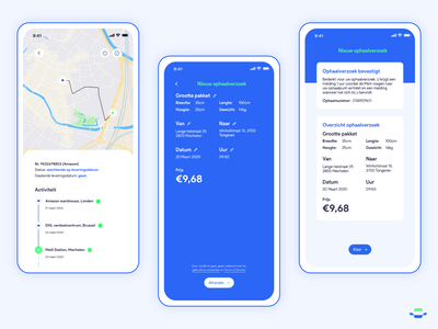 Automated Delivery App ui track and field tracking app tracking package mail car iphone iphonex design delivery autonomous car autonomous app concept app ups amazon uidesign