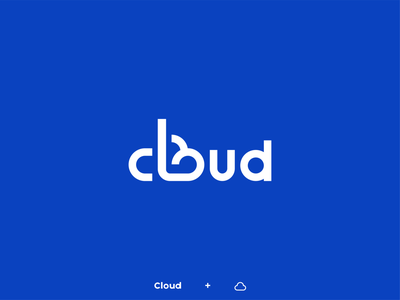 Cloud wordlogo cloudy sun branding design logotype logo design sky clouds cloud blue branding logo