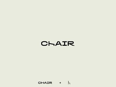 Chair wordlogo illustrator logotype logo design sofa furniture design furniture chair branding logo