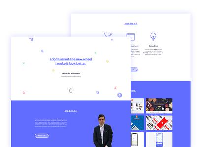 Colorful Portfolio (Home) web invite ux ui design uidesign projects blue colorful portfolio landing page