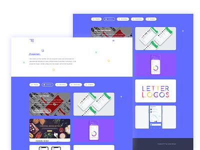 Colorful Portfolio (Projects) web projects colorful ui ux design portfolio uidesign invite