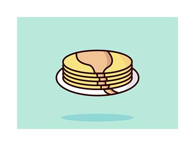 Pancake Illustration syrop illustrator breakfast drinks food pancakes pancake vector illustration
