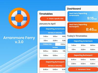 Arranmore Ferry v3.0 material ui app vector ui ux