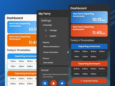 Arranmore Ferry Dark Mode branding app dark app ui dark mode