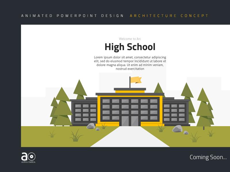 Arc Presentation Design - Buildings by Alpha Omega on Dribbble