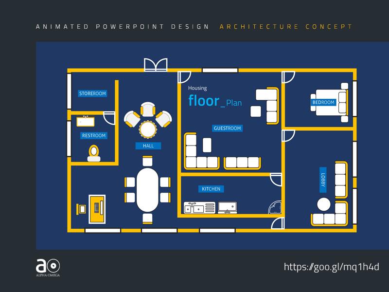 arc animated presentation template floor plan by alpha omega