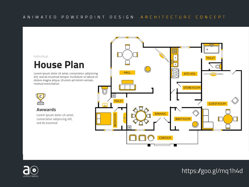 arc animated presentation template house plan by alpha omega