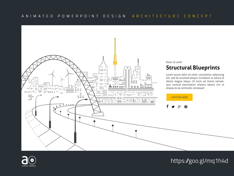 Arc Animated Presentation Template Structural Blueprints By Alpha