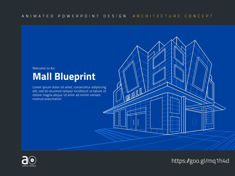 arc animated presentation template building blueprint by alpha omega