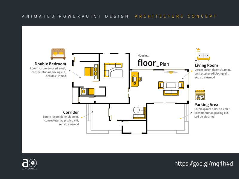 arc animated presentation template housing floor plan by alpha omega