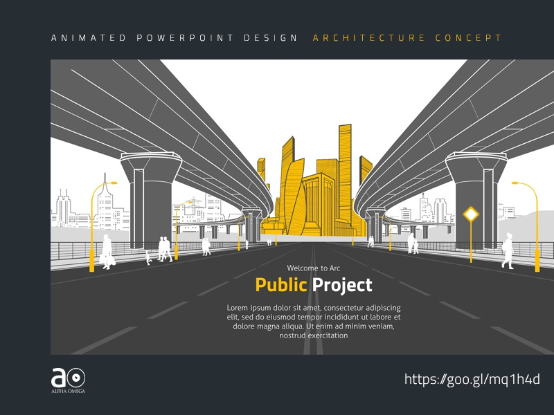 Arc Animated Presentation Template Public Construction By