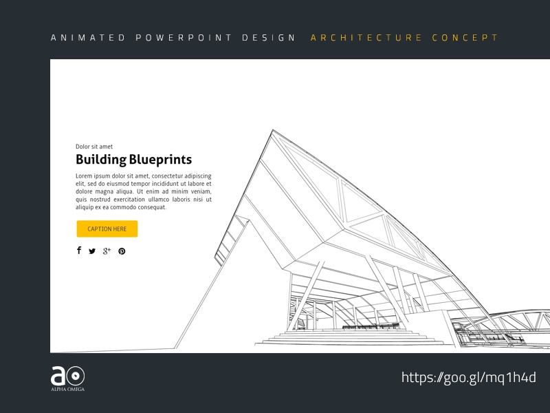 Arc Animated Presentation Template Building Blueprints By Alpha