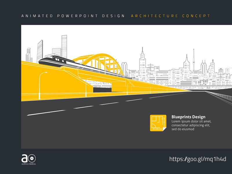 Arc animated presentation template building blueprint design by arc animated presentation template building blueprint design by alpha omega dribbble malvernweather Images