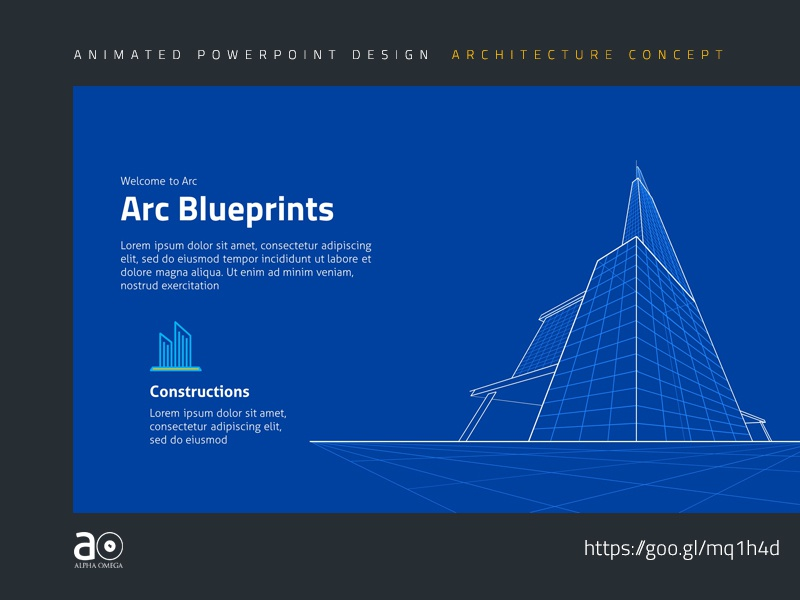 Arc Animated Presentation Template Building Blueprint By