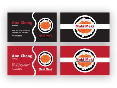 sushi business card design