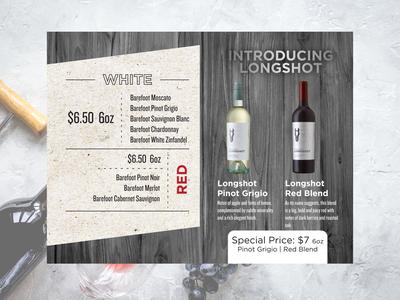 wine menu design
