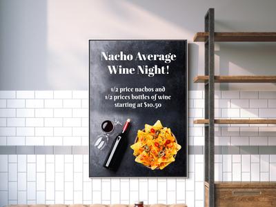 Poster design - Wine Night