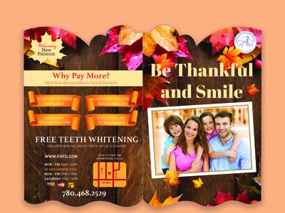 Dental Mailer Autumn theme