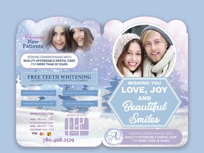 Dental Mailer Winter theme