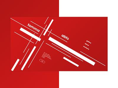 Website in Josef Müller-Brockmann's style josef müller-brockmann art flat ui web site web typography