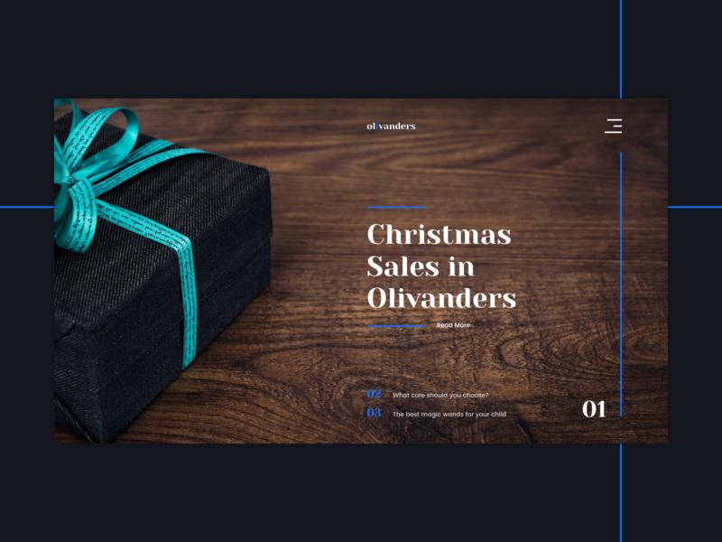 Olivanders Shop Website harrypotter ux challenge ux ui e-commerce ux design web site app web ui typography flat