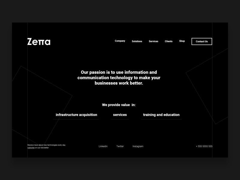 Zetta flat app ux ux ui web design ux challenge typography ui web site designcrowd