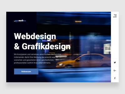 German Webagency BrielMedia — #1 designcrowd ux challenge ux ui portfolio webagency web site typography web ui flat