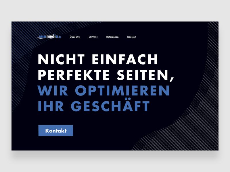 German Webagency BrielMedia — #2 webagency designcrowd portfolio ux ui ux challenge design ux web site typography web ui flat