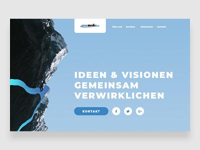 German Webagency BrielMedia — #3 designcrowd webagency ux ui ux challenge design ux web site typography web ui flat